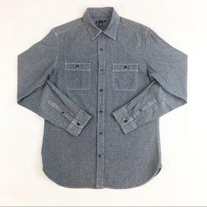 Gap Mens Indigo Slim Fit Pocketed Button Dwn Shirt